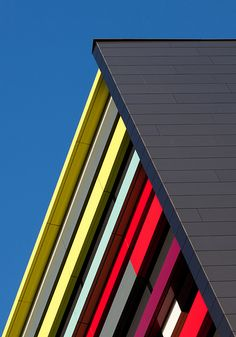 Coloured Building. Utrecht, the Netherlands.