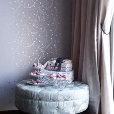 Tapet-Cafe Kids Wallpaper Stars in Lavender