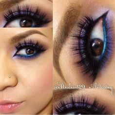 """By @Studio329_Artistry """"It's impossible to make your eyes twinkle if you aren't feeling twinkly yourself..."""" Beautiful look and quote by @Studio329_Artistry... follow her for #beauty looks and inspirations LASHES:: #FlutterLashes in """"NATALIE"""" ✨Visit us at www.FlutterLashes.com✨"""