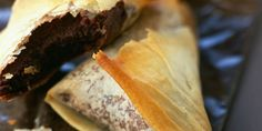 Brick chocolat - amandes au four