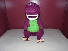 Barney crochet toy