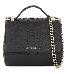 GIVENCHY Pandora Snakeskin Cross-Body Bag. #givenchy #bags #shoulder bags #