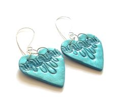 Valentine Heart earrings turquoise by JP with love by JPwithLove, $24.00