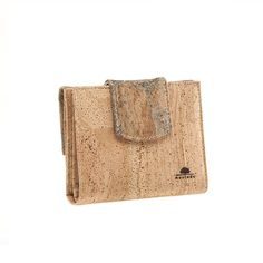 Small Vegan Cork Purse with two compartments, for coins and for notes and documents. Eco-friendly, durable and made in Portugal. Montado - Cork Fashion.