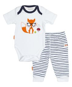 2fa3f071e6 Look at this Navy Stripe On Safari Bodysuit & Pants - Infant on #zulily  today