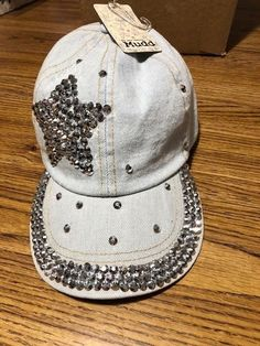 8ddf54d37a7 Mudd adjustable baseball hat light denim in color with jewel decoration   fashion  clothing