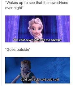 When it's cold outside...