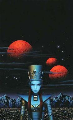 Old Sci Fi Movies, 70s Sci Fi Art, Classic Sci Fi, Aliens And Ufos, Pulp, Retro Futuristic, Science Fiction Art, Fantasy Illustration, Sci Fi Fantasy