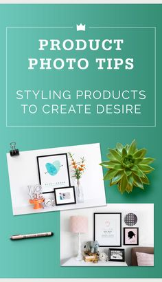 Wondering how to style product photos so that your customer is drawn in and simply must buy your item? We have tips on product styling and prop selection here.