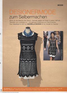 Crochetemoda: Vestido Preto de Crochet