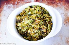 Roasted Brussels Sprout Ribbons | The Nourished Seedling #vegan #healthy
