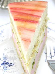 Rhabarber-Ananas-Torte mit Pistazien | von Tortentante Monika nach Bernd Siefert | Sweet Dreams