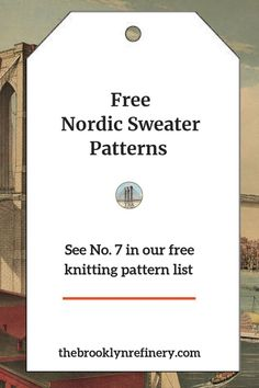 Free Knitting and Crocheting Patterns - The Brooklyn Refinery - DIY, Arts and Crafts : Find some great free Rowan knitting patterns for your next knitting project. Rowan Knitting Patterns, Knitting Help, Vogue Knitting, Easy Knitting, Knitting Stitches, Crochet Patterns, Sweater Patterns, Stitch Patterns, Crochet Edgings
