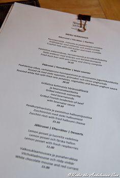 Dining and wining at Fiskars Wärdshus