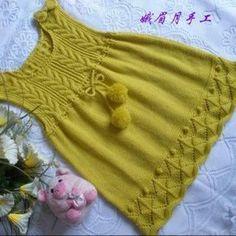60 Ideas Crochet Sweater Diy Baby Cardigan For 2019 Knitting For Kids, Crochet For Kids, Baby Knitting Patterns, Knitting Designs, Crochet Baby, Sweater Patterns, Girls Knitted Dress, Knit Baby Dress, Baby Cardigan
