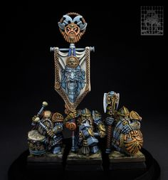 Longbeards, the oldest Dwarf warriors. by Sergey Chasnyk · Putty&Paint Mini Paintings, Cool Paintings, Warhammer Dwarfs, Warhammer Fantasy, Warhammer Aos, Warhammer 40000, Blood Bowl Teams, Fantasy Dwarf, Warhammer 40k Miniatures