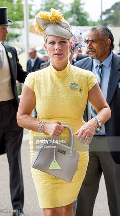 Zara Phillips Tindall in Rosie Olivia. Dress by Paul Costelloe on day 1 of Royal Ascot at Ascot Racecourse on June 16, 2015 in Ascot, England.  (Photo by Mark Cuthbert/UK Press via Getty Images)