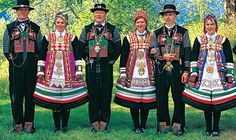Triple marriage in Setesdalen costumes. I think this is one of the most beautiful of all the Norwegian bunads.