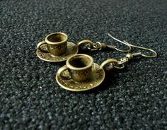 Steampunk Gothic Key Earrings Bronze by SteampunkRelics on Etsy