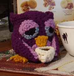 PATTERN  Crocheted Night Owl by kitsunecreations on Etsy, $3.50