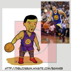 Stephen Curry, caricatura, NBA, baloncesto, Golden State