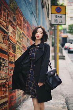 Yun Seon Young milkcocoa women t Ulzzang Fashion, Asian Fashion, Girl Fashion, Fashion Outfits, Yoon Sun Young, Favim, Korean Outfits, Look Chic, Asian Style