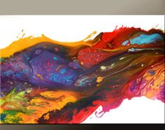 Thank you for your interest in this original hand painted modern abstract contemporary fine art painting by world collected artist Destiny Womack, aka dWo ...    All paintings and prints are READY TO SHIP and will ship within 1-2 days of your order. We offer gift Shipping service - We will gladly ship to your family and friends for you for easy gift giving. Please just specify shipping info at checkout  ________________________________________________________________    TITLE:: Utopia…