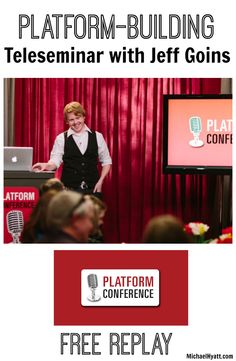 FREE replay of Jeff Goin's Platform-Building Teleseminar -- such powerful content! http://michaelhyatt.com/replay-of-the-platform-building-teleseminar-with-jeff-goins.html