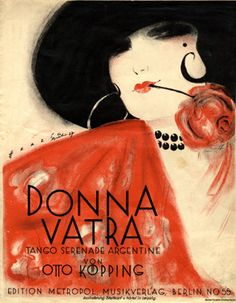 "Cover Sheet Music by Willy Herzig, 1927, ""Donna Vatra"". (G)"