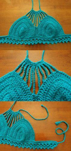 Teal Handmade Festival Crochet Top