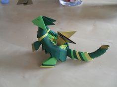 Dragon en origami modulaire : Loisirs créatifs, scrapbooking par orlanette