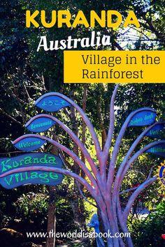 Walking through Kuranda, Australia: Village in the Rainforest   Cairns with kids   Australia with kids