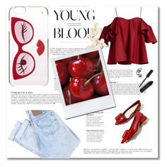 """""""#red"""" by emina-turic ❤ liked on Polyvore featuring Anna October, Kate Spade, Anja and Bobbi Brown Cosmetics"""