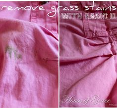 remove grass stains with basic h!