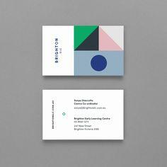 Brighton ELC by Studio Brave, Australia. #branding #businesscards