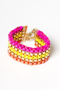 Pop Color Chain Bracelet $17.00