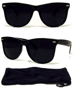 47f0d4e3a6 MEN Sunglasses Wayfarer Style Black Frame with Dark Lens - NEW! Sunglasses  Accessories