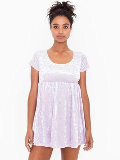 Stretch Velvet Babydoll Dress | American Apparel
