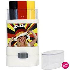 WM Party: Praktischer 3-in-1 Make-up Stick mit Deutschlands Nationalfarben.| Fan Marker Deutschland Fahne | Schminke für die WM Party