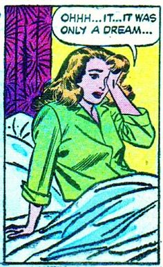 "Comic Girls Say.. ""Ohhh..it was only a dream"" #comic #popart #vintage"