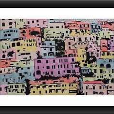 Positano (cm.30x20 tecnica mista su cartoncino) #positano #positanocoast #drawing #illustration #artist #art #designer #sanat #grafiktasarim #tolgaozasil