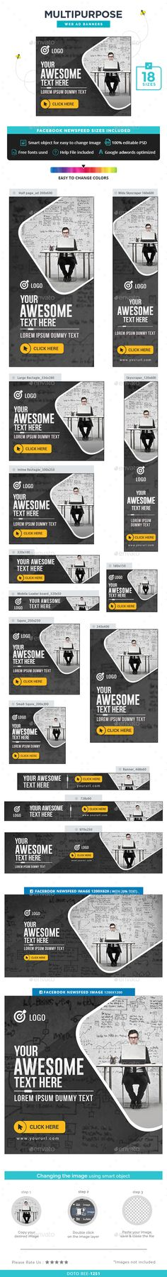 Multipurpose Web Banners Template PSD. Download here: http://graphicriver.net/item/multipurpose-banners/15639210?ref=ksioks