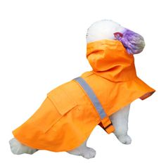 Pet Dog Hooded With Belt Rain Coat Teddy Puppy Poncho * More info could be found at the image url. (This is an affiliate link and I receive a commission for the sales) #MyPet