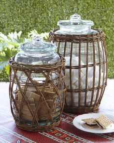 Park Hill Collections Willow Wrapped Canisters