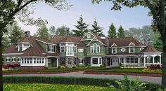 Luxurious Shingle-Style Home Plan - 2389JD | Craftsman, Northwest, Shingle, Luxury, Photo Gallery, Premium Collection, 2nd Floor Master Suite, Bonus Room, Butler Walk-in Pantry, CAD Available, Den-Office-Library-Study, Loft, MBR Sitting Area, Multi Stairs to 2nd Floor, PDF, Wrap Around Porch, Corner Lot | Architectural Designs