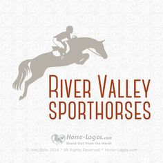 Customized pre-made horse logo design purchased by Erinn Bailey-Sawatzky of River Valley Sporthorses at RiverValleySporthorses.com. Check out my other stock logos @ Horse-Logos.com #horselogo #logo #design #equine Horse Clip Art, Horse Clipping, Web Design, Logo Design, Horse Logo, Trail Riding, Equine Art, Custom Logos, Horses