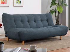 Sofa cama clic-clac de tela rojo VINCENT