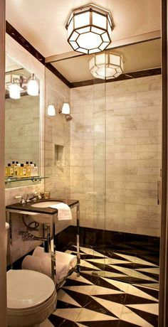 Bathroom vanity and marble tile