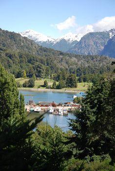 Puerto Pañuelo y Lago Nahuel Huapi, Bariloche, provincia de Rio Negro, Argentina