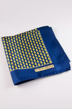 Daniel Bruce: Made in Italy Golden Pear Pocket Square  Available at www.dibities.com